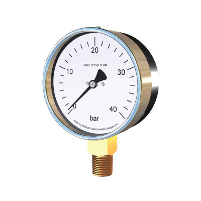 Pressure Gauges: 1011, 1012,1013,1014 Safety Pattern Aluminium Case Pressure Gauge