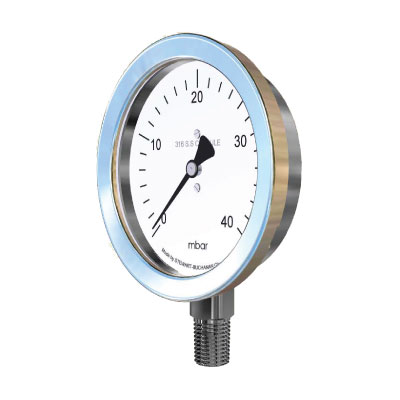 Low Pressure Draught Stainless Steel Pressure Gauge