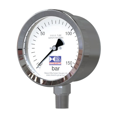 ​Safety Pattern Stainless Steel Pressure Gauge