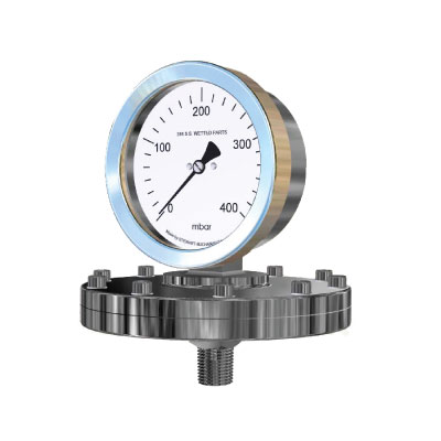 Mechanical Diaphragm Stainless Steel Pressure Gauge