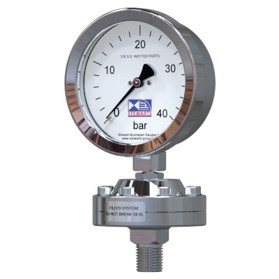 Diaphragm Seal Filled System Pressure Gauge