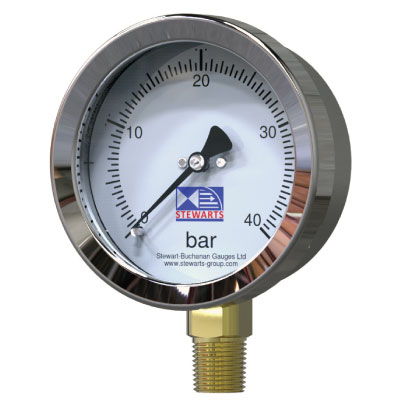 Stainless Steel Case Brass Internals Pressure Gauge