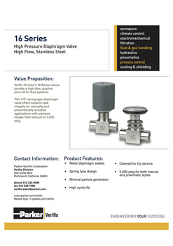 Parker/Veriflo Diaphragm Valves