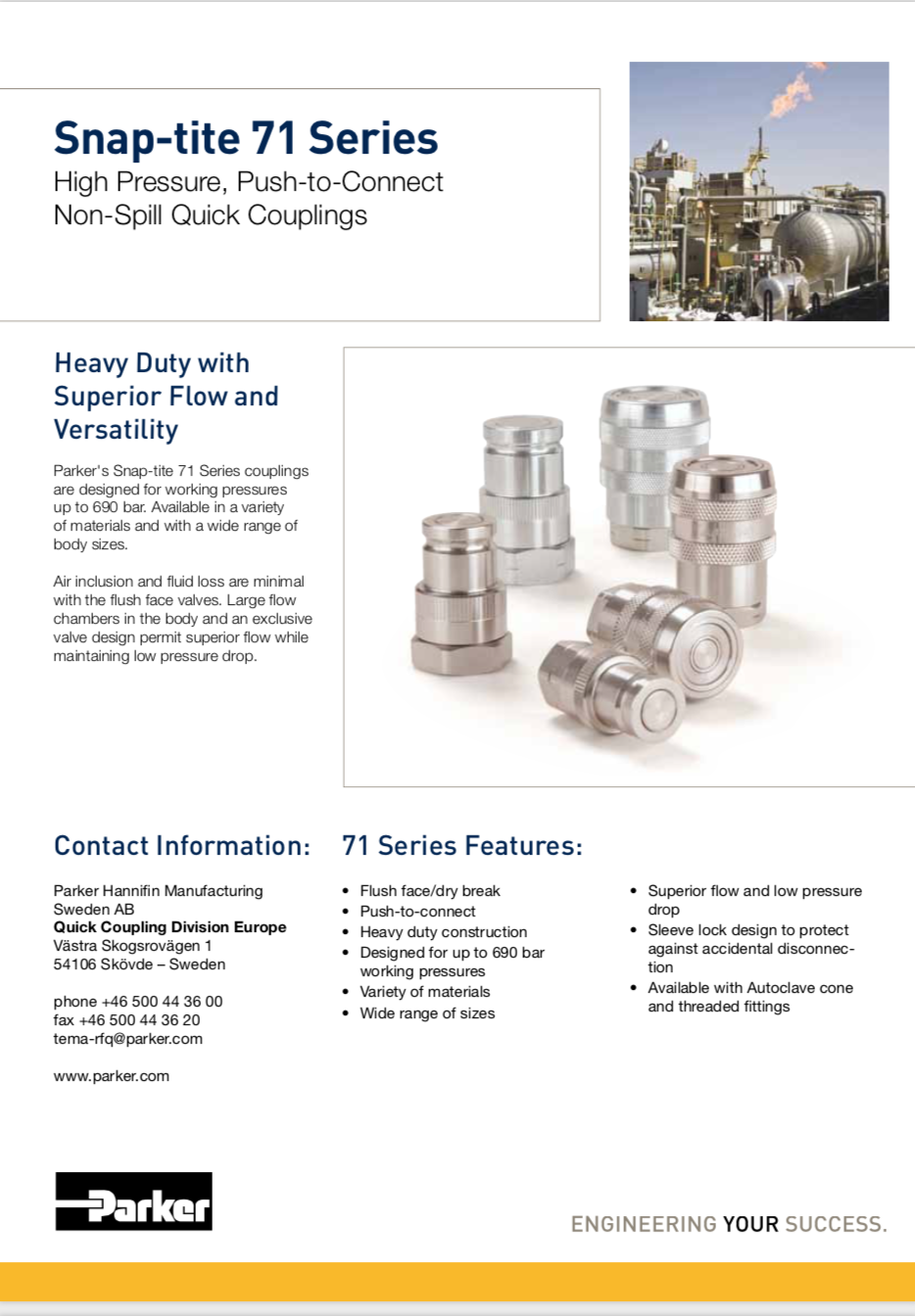 Parker NPT Instrument Pipe Fittings