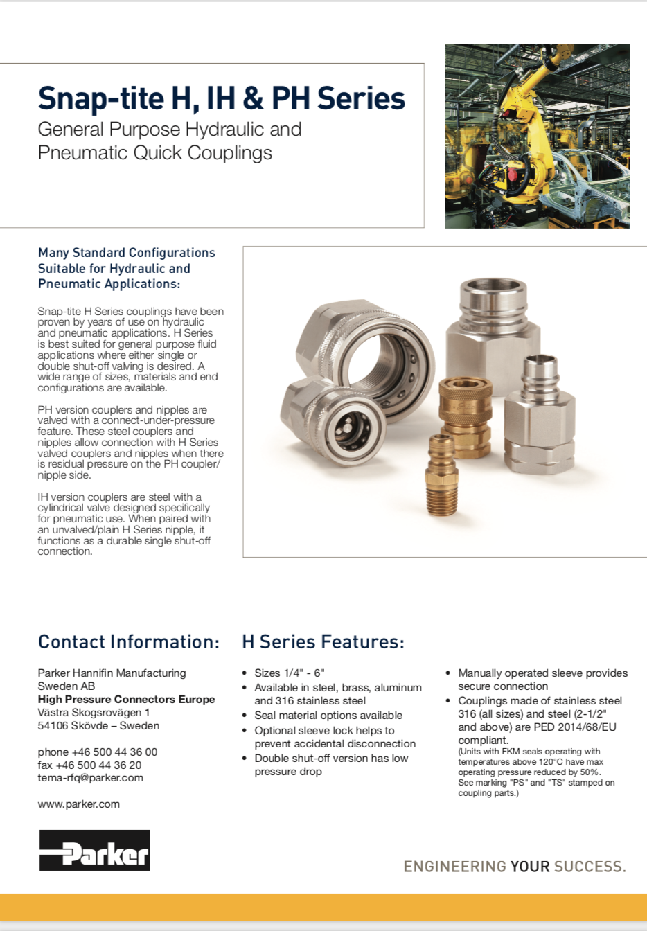 Parker Vacuseal Ultra High Purity Fittings